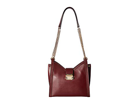 e548865a1ab3db Michael Michael Kors Whitney Small Leather Crossbody Bag In Oxblood ...