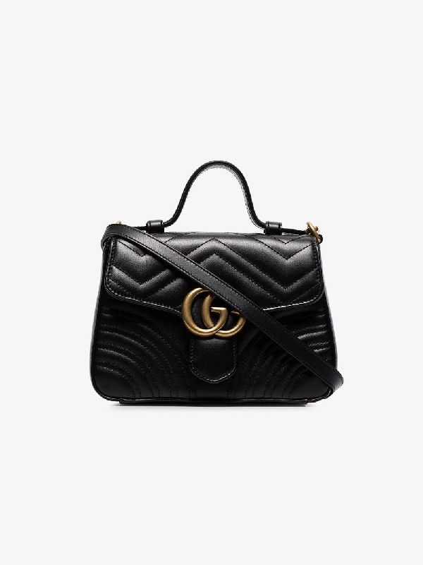 42d8c977682253 Gucci Gg Marmont Mini Top Handle Bag In Black | ModeSens