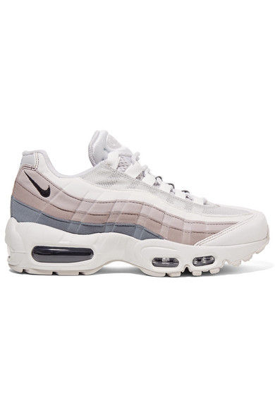 aliexpress detailing new collection Air Max 95 Suede, Mesh And Leather Sneakers in White