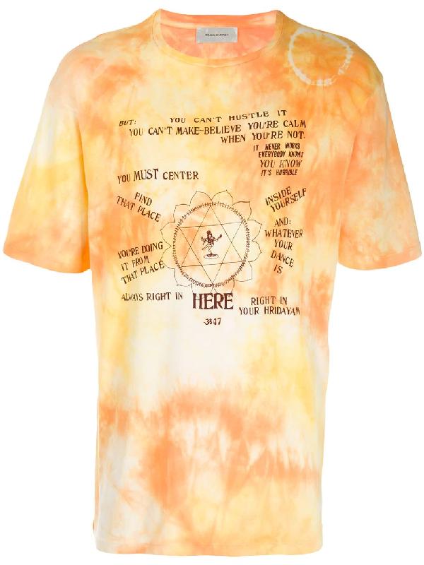 d6a7ffd67 Wales Bonner Tie Dye T-Shirt - Orange | ModeSens