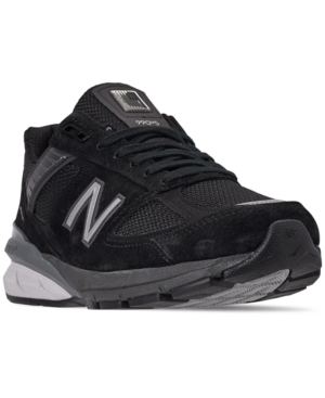 best sneakers 63d4e 1622b Men's 990 V5 Running Sneakers From Finish Line in Black/Silver