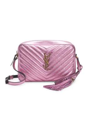 0dede5350e Lou Medium Ysl Monogram Quilted Camera Crossbody Bag in Pink
