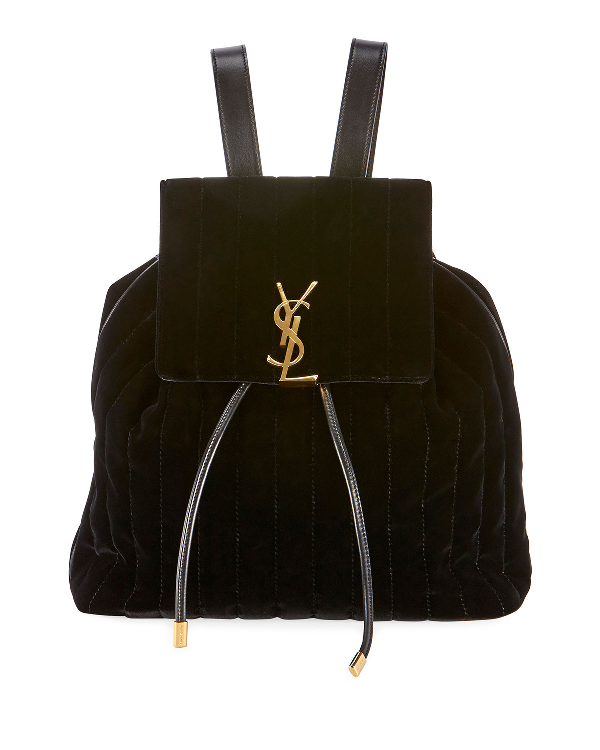 d868d70ac8fbf2 Saint Laurent Vicky Quilted Drawstring Backpack In Black | ModeSens
