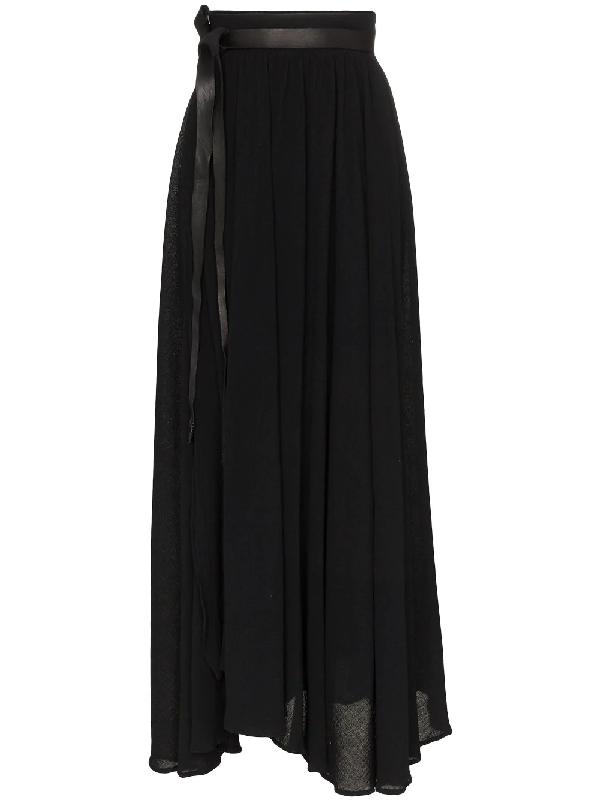 001a8c1576 Caravana Wrap Maxi Skirt - Black | ModeSens