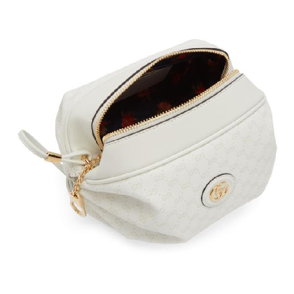 7635a24a408f7 Gucci New Candy Gg Supreme Canvas Mini Crossbody Bag - White In 8459 White