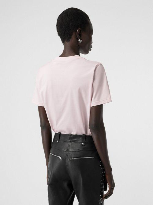 Burberry Monogram Motif Cotton T-Shirt In Pink