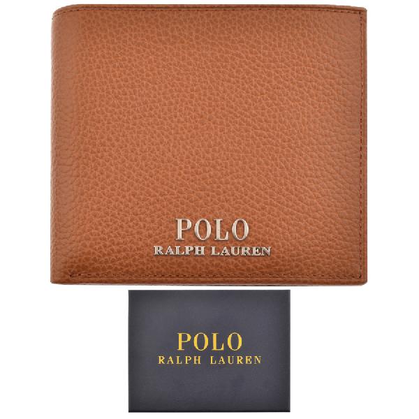 e3b770471daf Polo Ralph Lauren Grained Leather Billfold Wallet In Beige   ModeSens