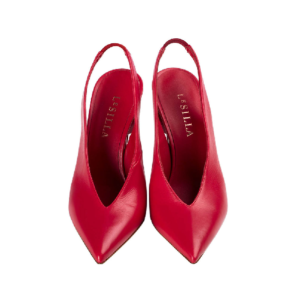 Le Silla Candy Slingback 120 Mm In Red