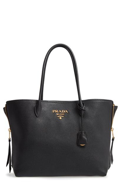 52744491d013 Prada Daino Top-Handle Shopper Tote Bag In Nero | ModeSens