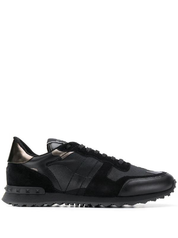 ea651608dfeb4 Valentino Camo Rockrunner Sneaker In Black | ModeSens