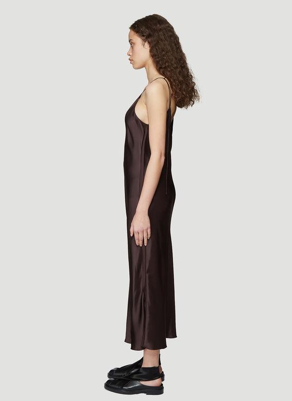 56c7241b9bdc Helmut Lang Raw Detail Slip Dress In Brown In Chocolate | ModeSens