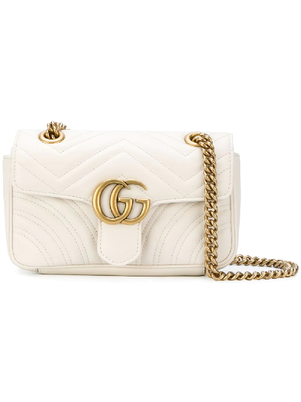 46a9a2c12e9e Gucci Gg Marmont 2.0 Matelassé Shoulder Bag In White | ModeSens
