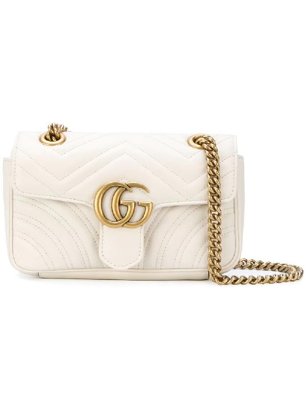 dca18725f729 Gucci Gg Marmont 2.0 Matelassé Shoulder Bag In White | ModeSens