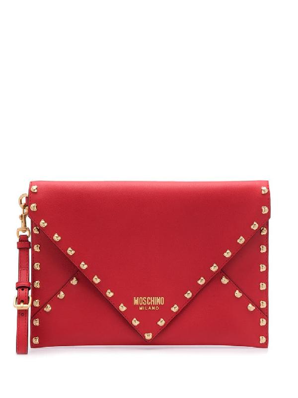 a0edcf1562 Moschino Teddy Bear Clutch Bag - Red | ModeSens