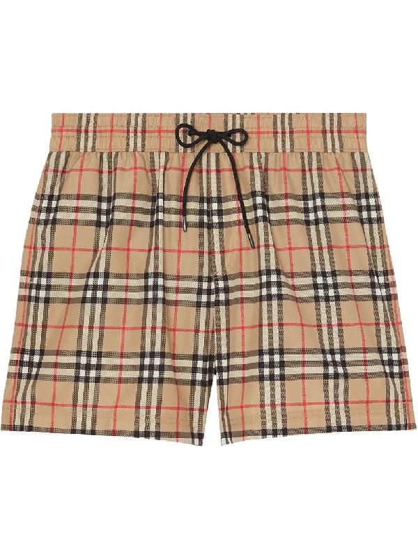 5f79026575 Burberry Small Scale Check Drawcord Swim Shorts In Brown | ModeSens