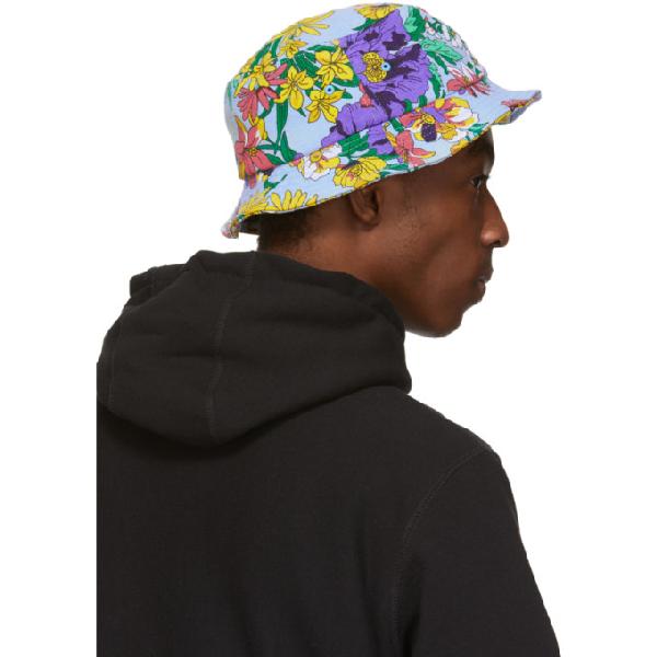 6f291869b Noah Nyc Multicolor Floral Rugby Bucket Hat in Powder
