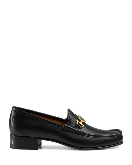 Gucci Leather Loafer With Interlocking G Horsebit In Brown