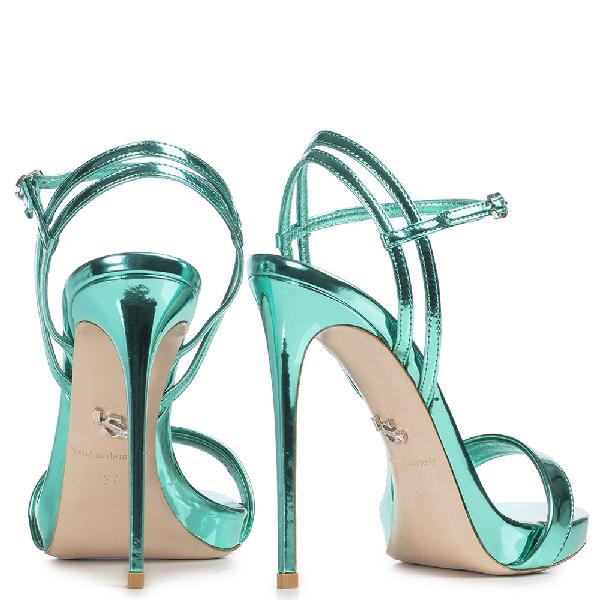 Le Silla Gwen Sandal 120 Mm In Green Marine