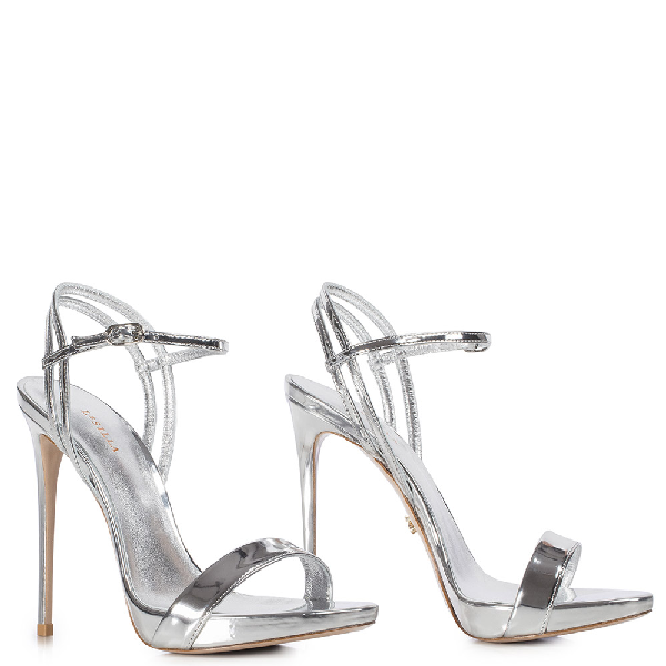 Le Silla Gwen Sandal 120 Mm In Silver