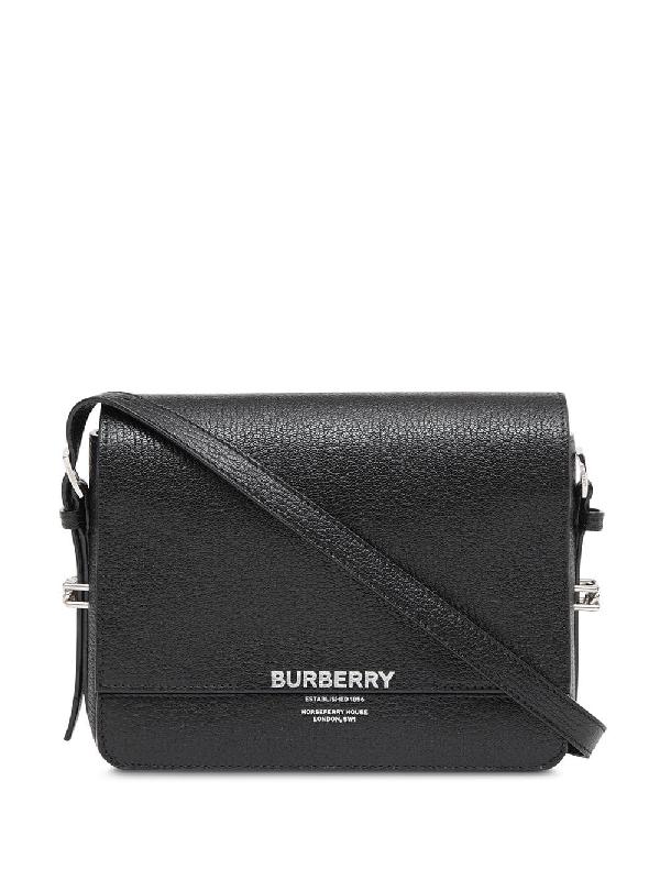 6d868ea31f Burberry Small Grace Goatskin Leather Crossbody Bag - Black | ModeSens