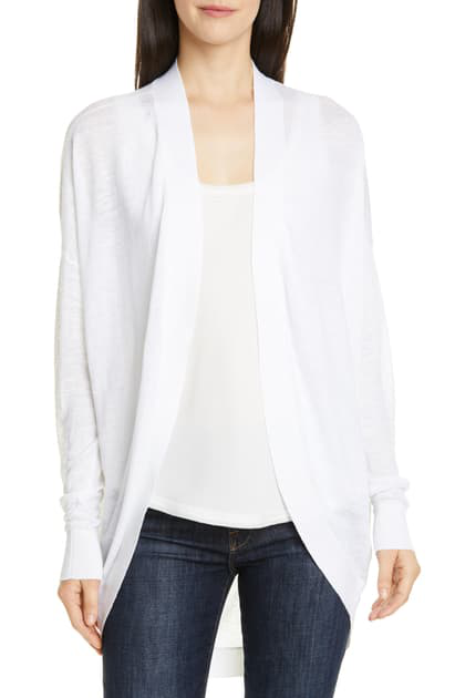 7282ad7b64 Theory Sag Harbor Open-Front Waterfall Cardigan In White | ModeSens