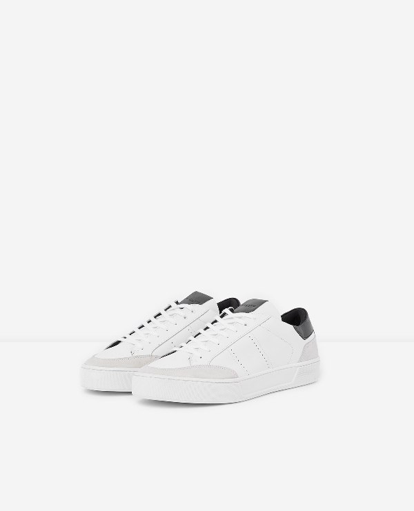 b1156a04628 The Kooples Men's Leather & Suede Lace-Up Sneakers In White | ModeSens