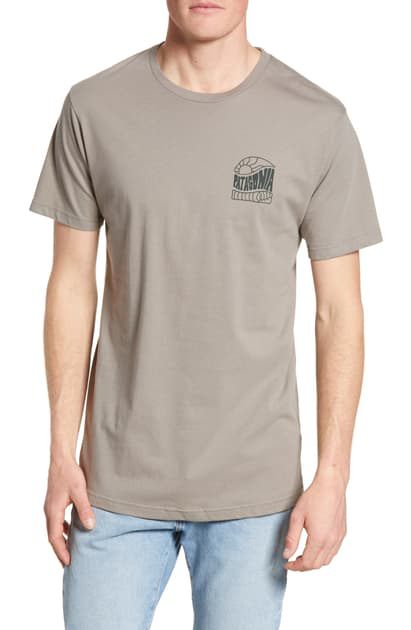 Patagonia Cosmic Peaks Graphic Organic Cotton T-Shirt In Feather Grey