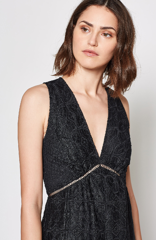Joie Ardal Lace Dress In Caviar