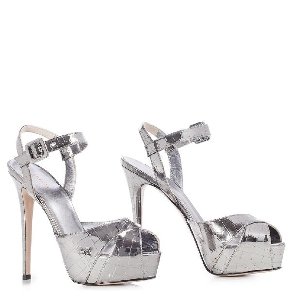 Le Silla Leila Sandal 130 Mm In Dark Grey