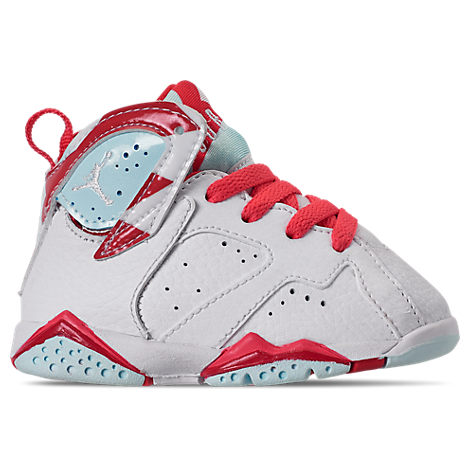 sports shoes b749a 66599 Jordan Girls' Toddler Air Jordan Retro 7 Basketball Shoes, White - Size 5.0