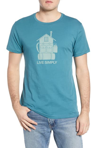 Patagonia Live Simply Home Graphic Organic Cotton T-Shirt In Tasmanian Teal
