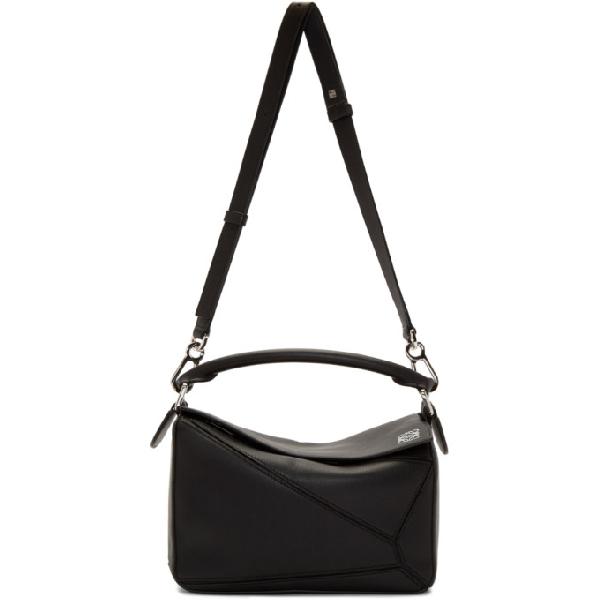 c80ed771ee91 Loewe Black Small Puzzle Bag In 1100 Black | ModeSens