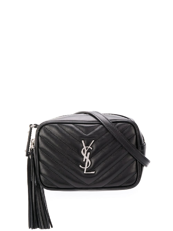 0ecc33299 Saint Laurent Lou Camera Bag In MatelassÉ Leather In 1000 Nero ...