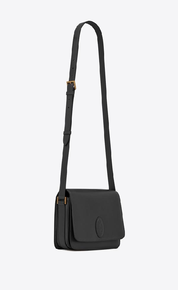9c16389b59 Saint Laurent Le 61 Medium Saddle Bag In Smooth Leather In Black ...