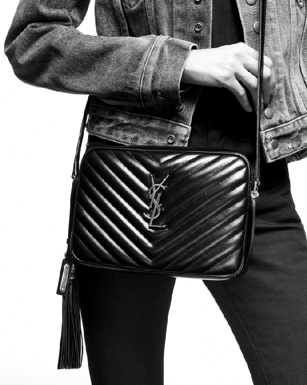 d57d69e320 Lou Camera Bag In Grain De Poudre Embossed Leather With A Graphic Print in  Black