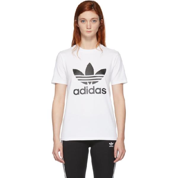 4506aa6a Adidas Originals Adicolor Trefoil Oversized T-Shirt In White - White ...