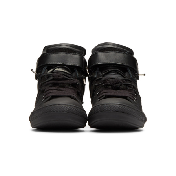 Fabric Maison In Black T8016 Sneakers Bkmx Mix High Top Margiela xrBhdCtsQ