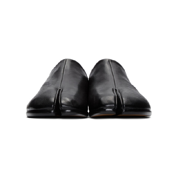 f7d6aa367c0 Maison Margiela - Tabi Split Toe Leather Loafers - Mens - Black