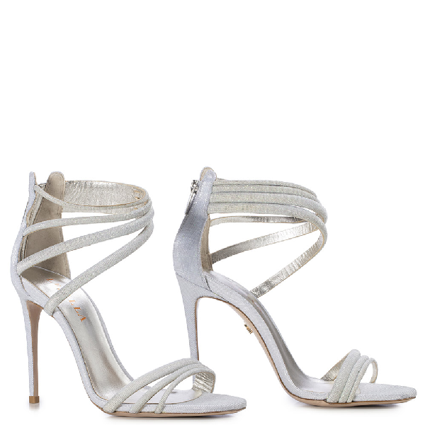 Le Silla Denise Sandal 110 Mm In Silver