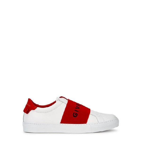 Givenchy Slip-On 5E01Y Calfskin Logo Red White