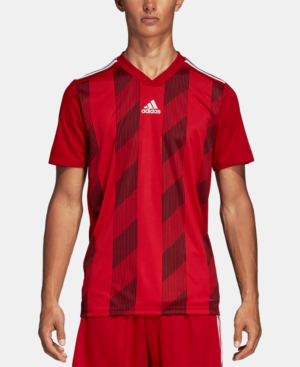 Adidas Originals Adidas Men's Striped 19 Jersey T-shirt In Red ...