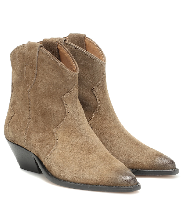 5ca10ff6fe1 Isabel Marant Dewina Suede Ankle Boots In Brown | ModeSens