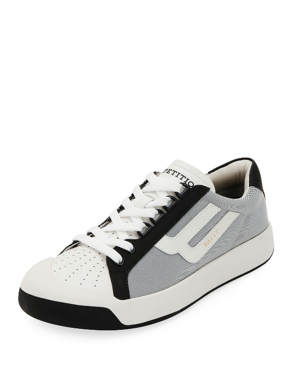 BALLY MEN'S NEW COMPETITION MESH & LEATHER SNEAKERS,PROD149080139