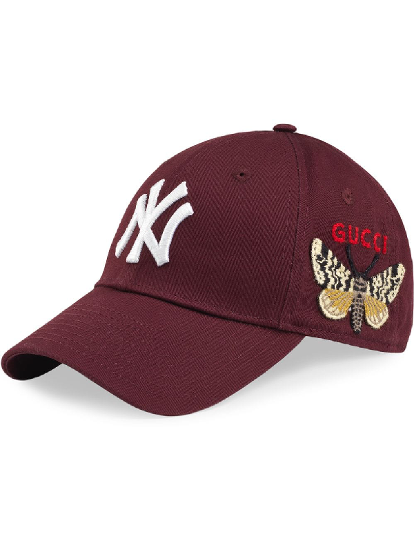 834c7c1a Gucci Baseball Cap With Ny Yankees™ Patch - Red In 6200 | ModeSens