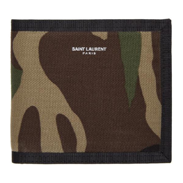 65ad11db978 Saint Laurent Camouflage Bifold Wallet - Green In 3066 Camoka | ModeSens