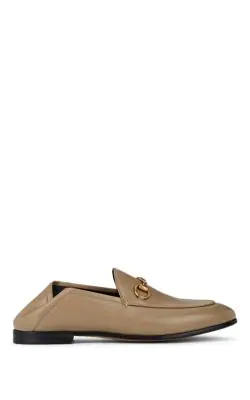 Gucci Brixton Leather Horsebit Loafer In Toast