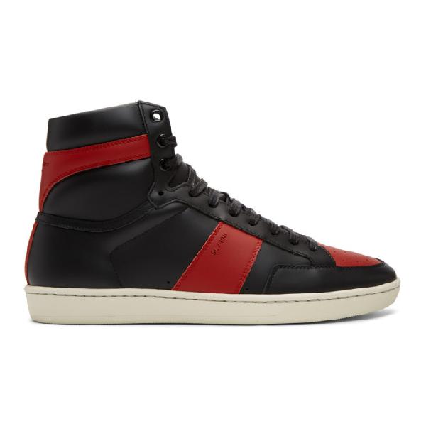 72652f53548 Saint Laurent Sl/10H Men. SAINT LAURENT. Sl/10H Men's Signature Court  Classic Leather High-Top Sneakers ...