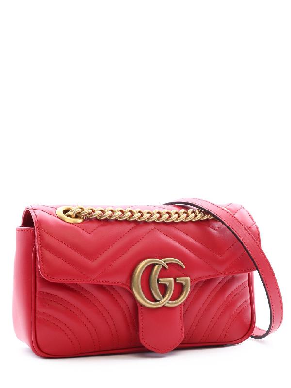 acb1c8d58aea Gucci Gg Marmont Matelassé Mini Shoulder Bag In Red | ModeSens
