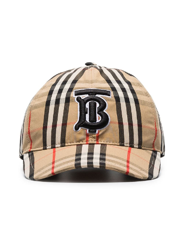 249125f57c94b8 Burberry Icon Stripe Logo-Embroidered Cotton Baseball Cap In Brown ...