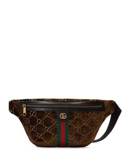 25865d7d4 Gucci Gg Supreme Velvet Belt Bag In Brown Br/Ner/Ner/Vrv   ModeSens